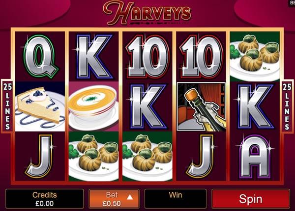 Harveys Slot Screen Shot