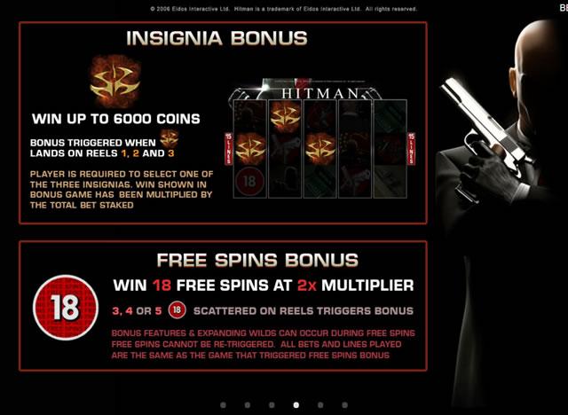 hitman insignia bonus
