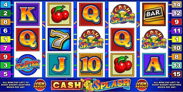 cash splash progressive slot screenshot