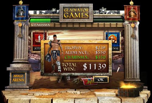 gladiator games bonus win
