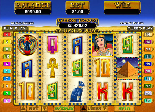 Cleopatra's Gold RTG slot game