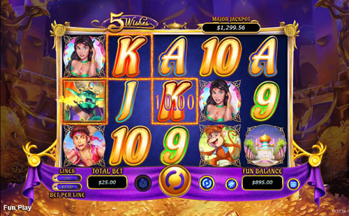 5 Wishes Free Slot game RTG