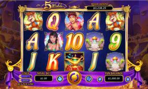 5 Wishes Online Slot game RTG
