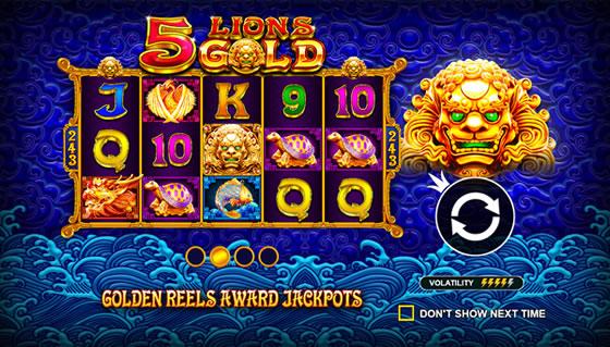 5 Lions Gold Slot Pragmatic Play