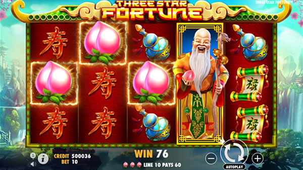 Three Star Fortune Slot Pragmatic Play