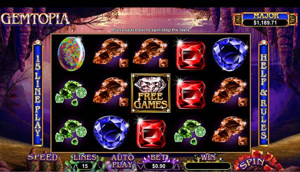 Gemtopia RTG slot game