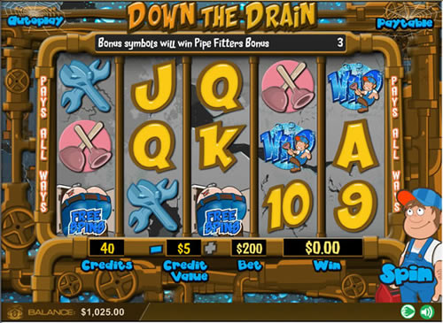 Down the Drain WGS slot review