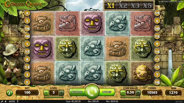 Gonzo's Quest Netent slot game