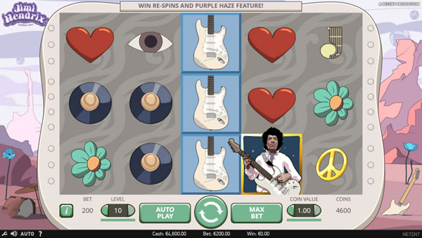 Jimi Hendrix online slot machine