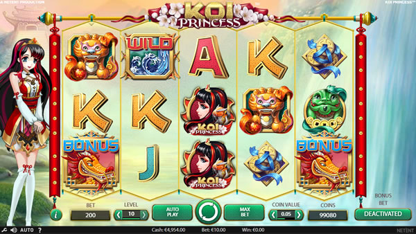 Koi Princess slot Netent