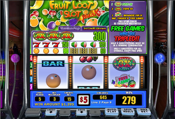 Fruit Loot WGS Wild X slot