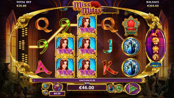 Miss Midas online casino slot NextGen