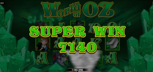 World of Oz online slot game