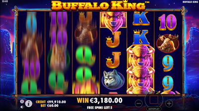 Buffalo King Free Spins Feature