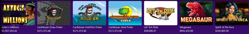 High Country Casino Progressive jackpots