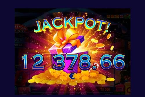 Christmas Jackpot slot win