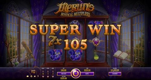 Merlin's Mystical Multipliers Super Win