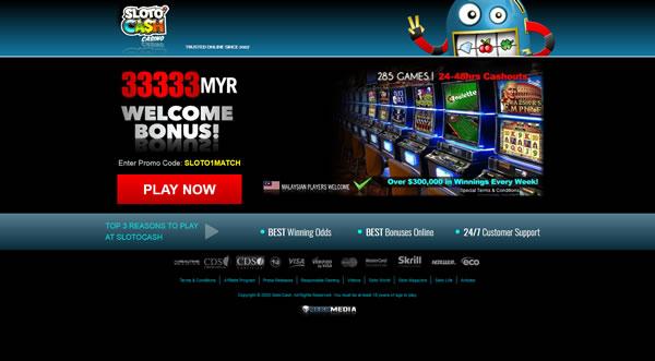 Sloto'Cash Malysia Online Casino