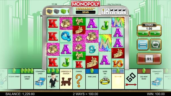 Monopoly Megaways Win