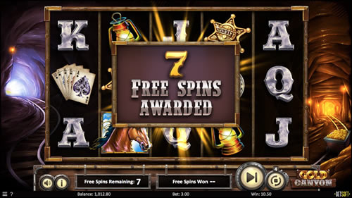 Gold Canyon Free Spins