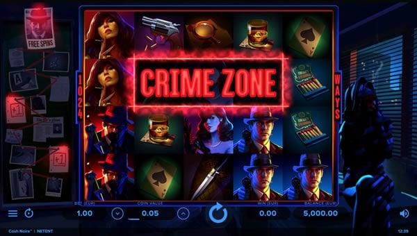 Cash Noire NetEnt slot screen shot