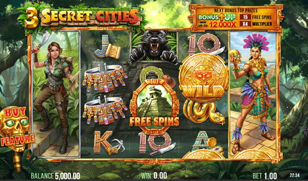 3 Secret Cities Slot by 4ThePlayer and powered by Relax Gaming