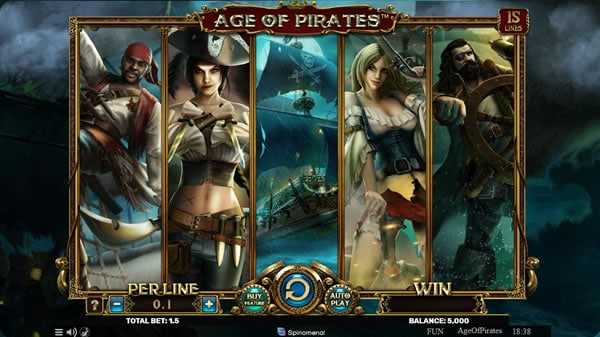 Age of Pirates 15 Line Video Slot
