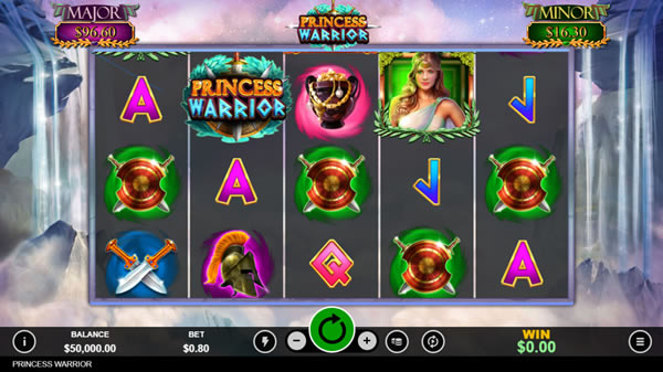 Princess WarriorOnline Slot Game by RTG for USA players