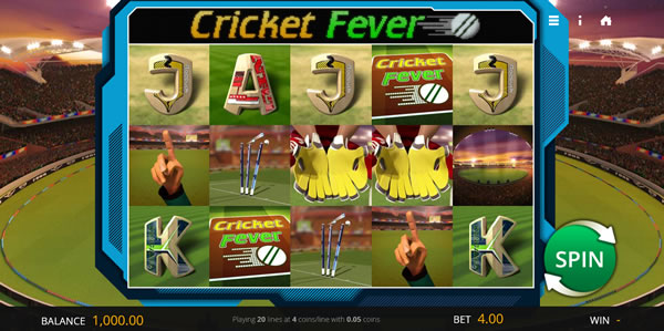 Cricket Fever Slot by Saucify